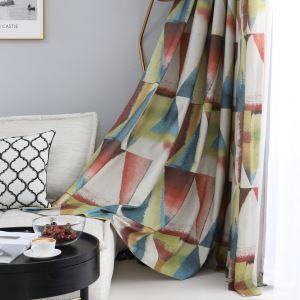 Vorhang Bunte Dreieck Muster Impressionistische Farbserie für Wohnzimmer