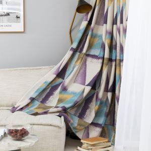 Vorhang Bunte Dreieck Muster Impressionistische Farbserie