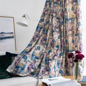 Moderner Vorhang mit Blumenvase Muster aus Polyester und Leinen