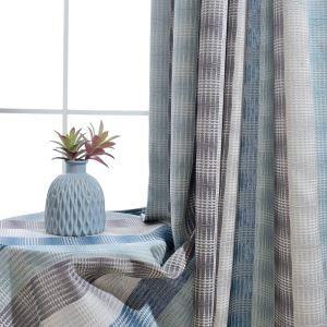 Moderner Vorhang mit Geometrisches Muster aus Polyester und Leinen