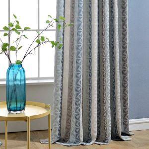 Moderner Vorhang Raute Jacquard für Wohnzimmer