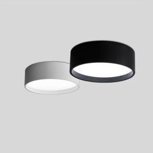 Runde Deckenlampe Led Modern in Schwarz oder Weiß für Schlafzimmer