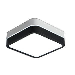 Led Deckenleuchte Eckig Doppel Design in Weiß und Schwarz