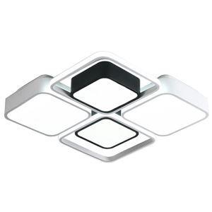 Led Deckenleuchte Modern Geometrisch Eckig Design in Weiß Schwarz