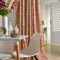 Amerikanischer Vorhang mit Blumen Motiv aus Baumwolle und Polyester