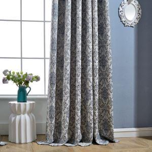 Europäischer Vorhang Jacquard Design aus Baumwolle und Leinen