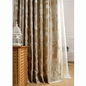 Luxus Vorhang mit Strauch-Pfingstrose Motiv für Schlafzimmer