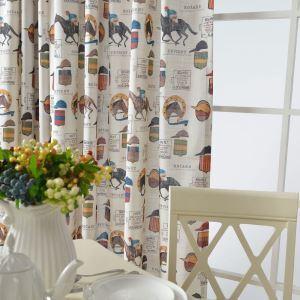 Amerikanischer Vorhang Pferdeverein Motiv für Kinderzimmer