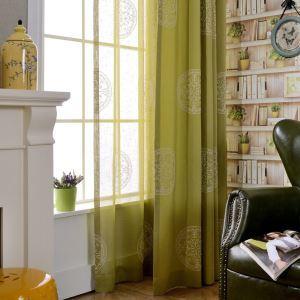 Minimalismus Vorhang mit Stickerei aus Polyester und Baumwolle