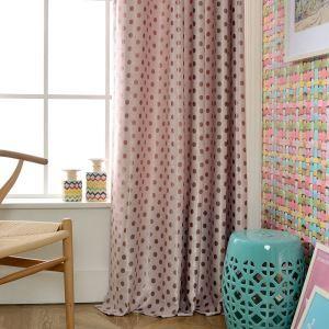 Blickdichter Vorhang Polka dot Design für Wohnzimmer