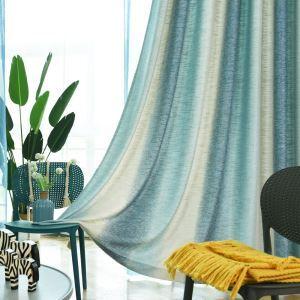 Kreatiiver Vorhang Farbverlaufsstreifen Design für Wohnzimmer