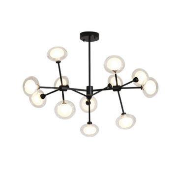 Pendelleuchte Modern mit Glas Lampenschirm für Wohnzimmer