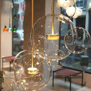 Led Pendelleuchte aus Glas Metall Blase Design