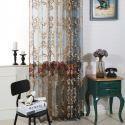 Luxus Gardinen mit Blumen Stickerei für Wohnzimmer (1er Pack)