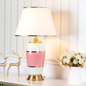 Elegante Tischlampe aus Keramik Eisen 1 flammig für Schlafzimmer