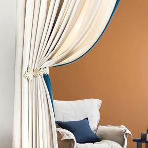Luxus Vorhang Beige Imitiertes Samtgewebe Design verdickt und blickdicht