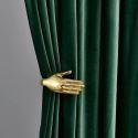 Eleganter vorhang Dunkelgrün für Wohnzimmer