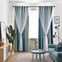 Kreativer Vorhang mit Gardinen hohlen Sterne Design für Schlafzimmer (1er Pack)