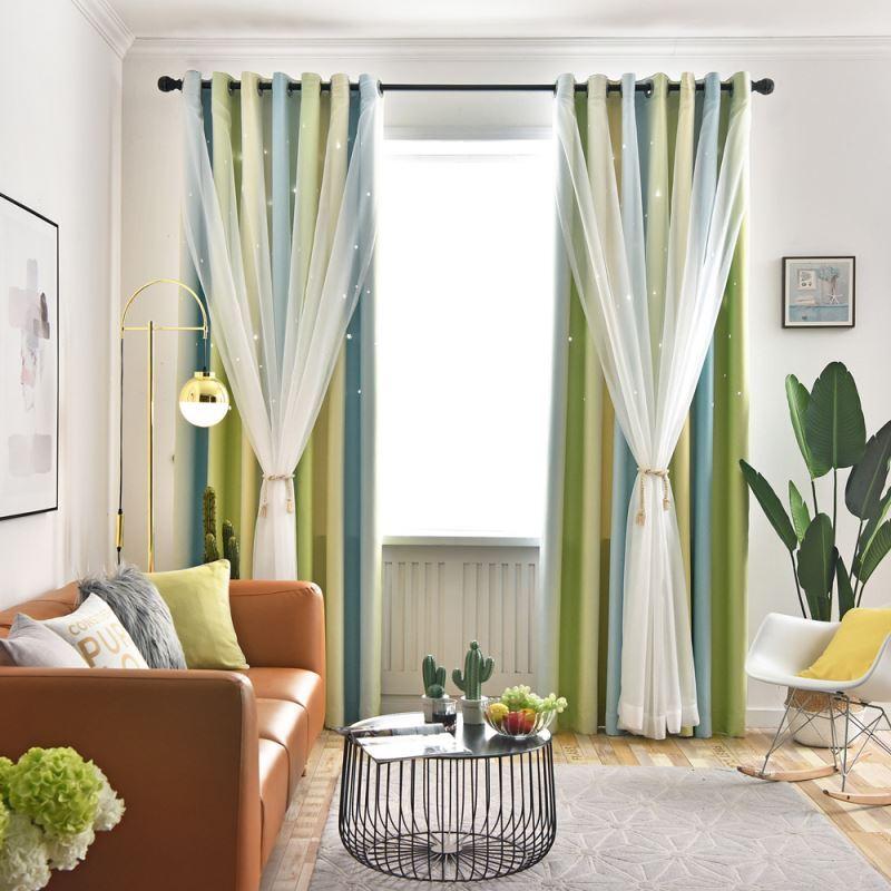 Kreativer Vorhang mit Gardinen hohlen Sterne Design für ...