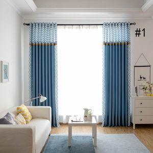 Kreativer Vorhang Wellen Design für Wohnzimmer 2er