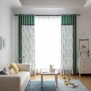Kreativer Vorhang mit Wasserpflanze Muster für Wohnzimmer 2er