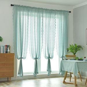 Gardine Spitze Design in Grün für Wohnzimmer 1er