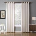 Minimalsimus Vorhang Uni aus Polyester für Schlafzimmer 2er