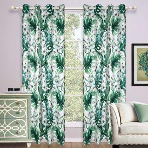 Moderne Vorhang Grüne Blätter für Wohnzimmer 1er
