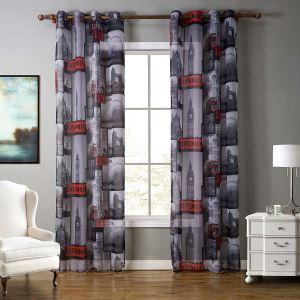 Kreative Gardine Gebäude Motiv aus Polyester 1er