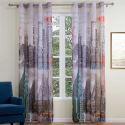 Kreative Gardine New York Motiv aus Polyester 1er