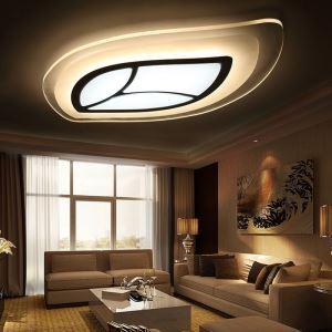 Led Deckenleuchte Modern Blatt Design im Wohnzimmer