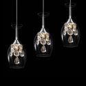 LED Mini Pendelleuchte Kristall 3-flammig