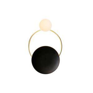 Moderne Wandlampe Ring Design in Schwarz für Wohnzimmer