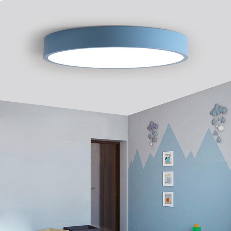 Led Deckenleuchte Modern Rund in Macarons Farbe für Schlafzimmer