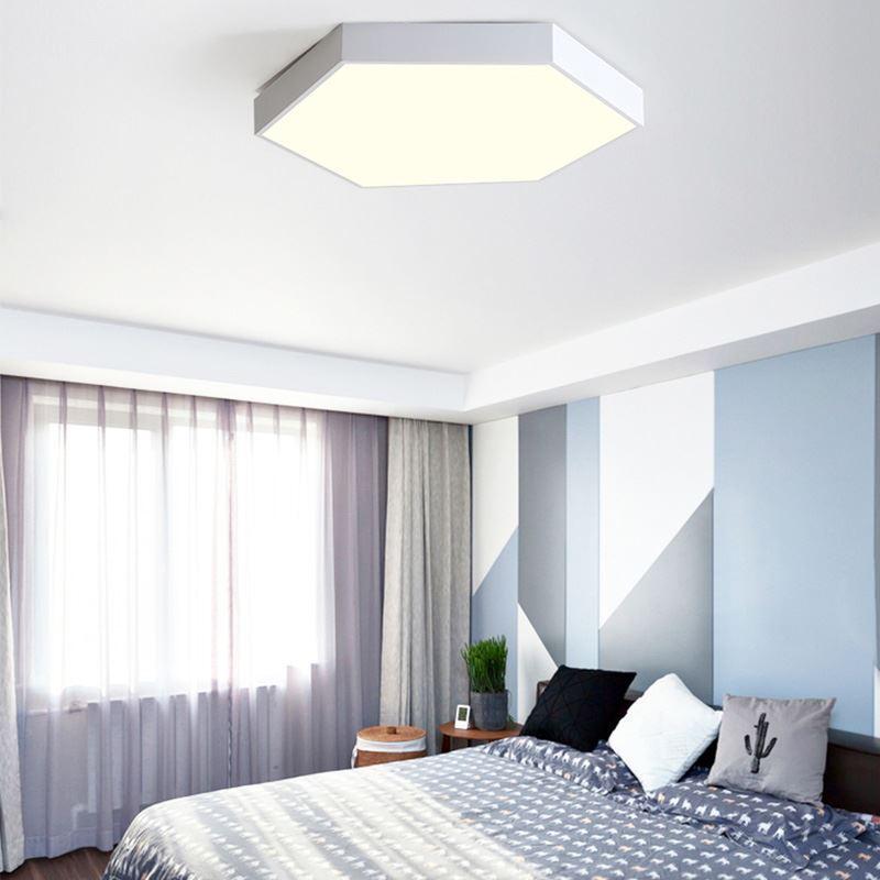 led deckenleuchte modern hexagon design für schlafzimmer