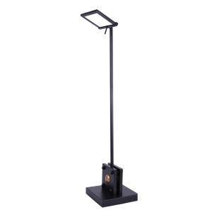 LED Tischleuchte Drehbar in Schwarz 4000K für Lesezimmer