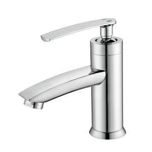 Waschtischarmatur Wasserhahn Einhebelmischer mit verchromt Oberfläche
