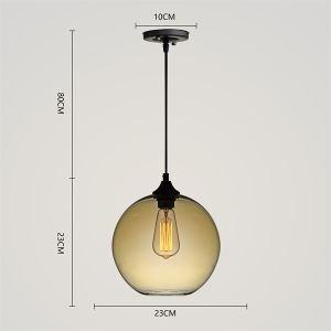 Zeige Details für Glas Pendelleuchte Modern in Blase Design 1 flammig