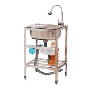 Moderne Küchenspüle Outdoor Edelstahl Gebürstet