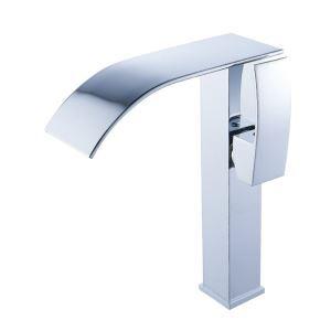 Waschtischarmatur Wasserfall mit verchromt Oberfläche Einhebel