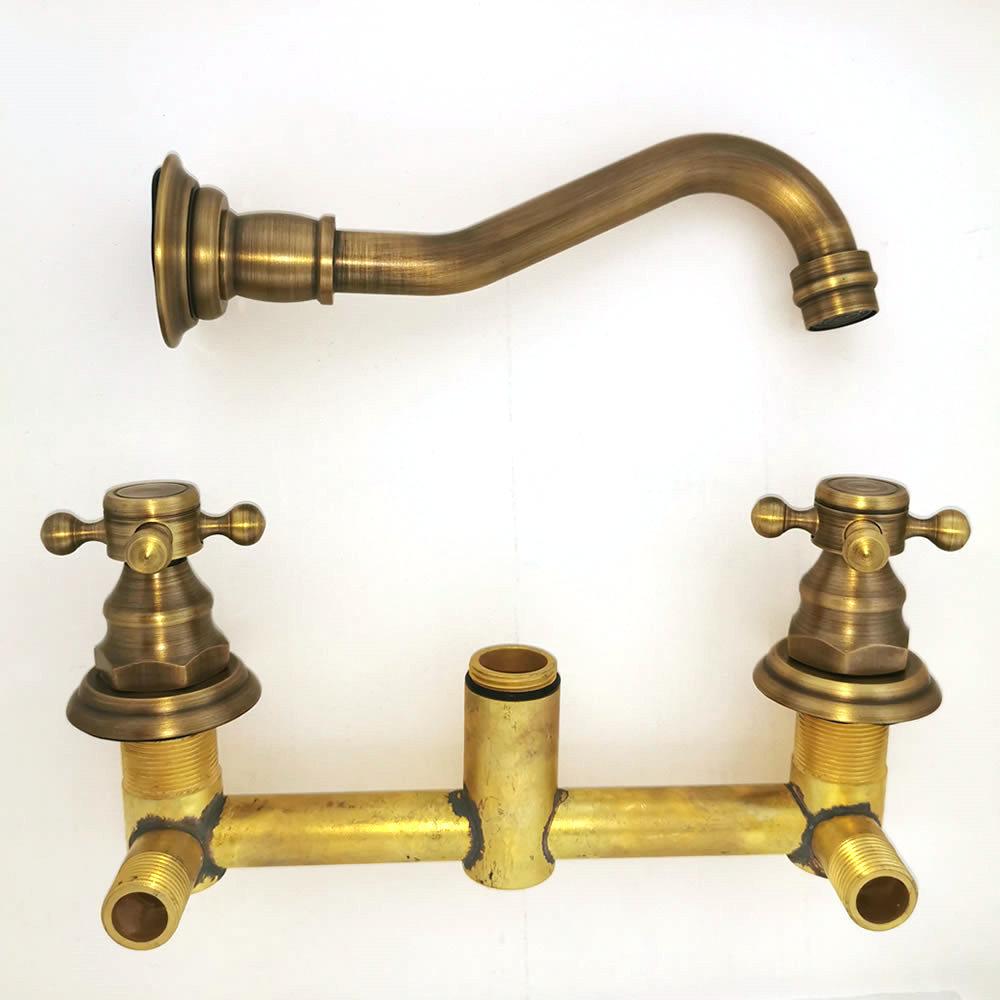 tyjsb Retro Antike Messing Einhand K/üchenarmatur Wand W/äscherei Bad Mopp Wasserhahn Garten Waschmaschine Wasserhahn