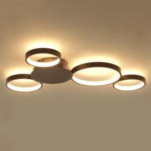 LED Deckenleuchte 4 Ringe aus Aluminium + Acry