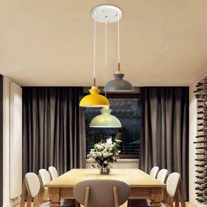 Moderne Pendelleuchte Macarons Serie aus Eisen 3 flammig für Esszimmer