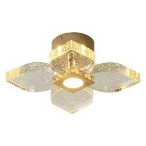 Led Deckenleuchte Kristall Floral Design für Schlafzimmer
