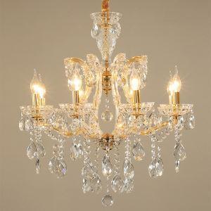 Reizender Kronleuchter Kristall in Gold 6/8 flammig für Schlafzimmer