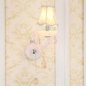 Kristall Wandlampe Kerzen Design 1/2 flammig für Flur