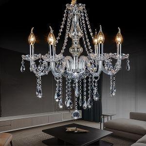 Kronleuchter Kristall Stilvoll in Transparent für Wohnzimmer