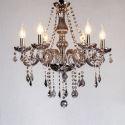 Kristall Kronleuchter Kerzen Design in Grau für Schlafzimmer