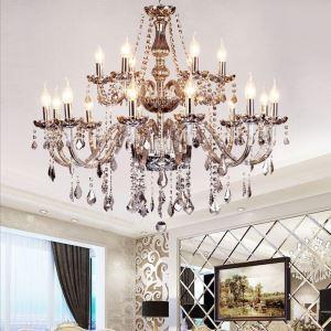 Kronleuchter Kristall Kerzen Design Europäischer Stil für Wohnzimmer