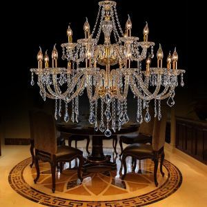 Kronleuchter Kristall Europäisch in Gold für Schlafzimmer
